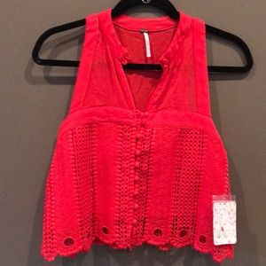 Brand new with tags red Free People tank size XS